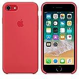 Funda para iPhone 7/8 Carcasa Silicona Suave Colores del Caramelo con Superfino Pelusa Forro,Anti-rasguños Teléfono Caso para Apple iPhone 7/8 (iPhone 7/8, Frambuesa roja)