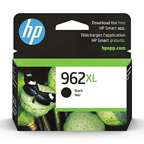 Original HP 962XL Black High-yield Ink Cartridge   Works with HP OfficeJet 9010 Series, HP OfficeJet Pro 9010, 9020 Series   Eligible for Instant Ink   3JA03AN