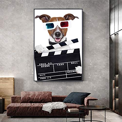 Puzzle 1000 piezas Animal de dibujos animados moderno perro policía divertido dibujo imagen de mascota puzzle 1000 piezas Gran ocio vacacional, juegos interactivos familiares50x75cm(20x30inch)