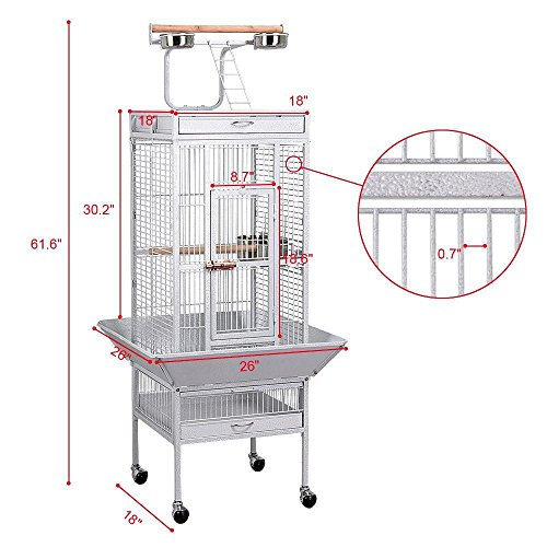 go2buy Wrought Iron Select Bird Cage Parrot Cockatoo Birdcage Stands