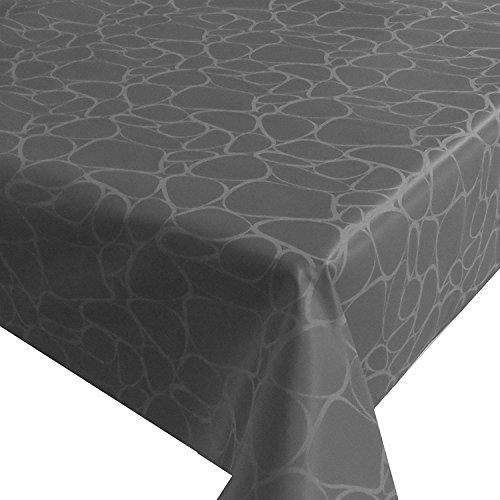 NL Meterware Tischdecke Stoff Tropfen Grau 90 x 130 cm Gartentischdecke mit Lotus Effekt TEFLON