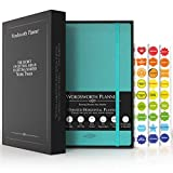 Wordsworth Undated Planner 2021-2022 - Weekly, Monthly, Yearly Planning, Organizer Notebook; Increase Productivity, Time Manage - Gratitude Journal; Hit Your Goals - Thick Paper (120GSM) A5, Turquoise