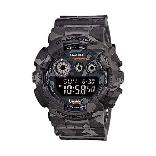Casio Men's XL Series G-Shock Quartz 200M WR Shock Resistant Resin Color: Grey Camo (Model GD-120CM-8CR)