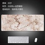 Mauspad große Büro Notebook Tastatur Pad kann Holz Maserung Marmor Haushalt Tischset Schreibtisch Pad in Flut, Blume braun Marmor, 1200x600x3mm sein