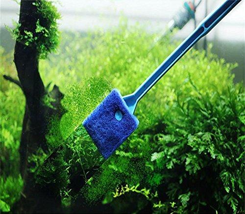 Gessppo Aquarium Fisch Tank Reinigung Bürste Algen Reiniger Eco Material, Wiederverwendbar und Langlebig Blau