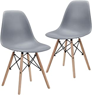 CangLong Modern Mid-Century Shell Lounge Plastic DSW...