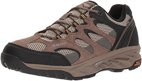 HI-TEC Men's V-LITE Wild-FIRE Low I Waterproof Hiking Shoe, Taupe/Dune/core Gold, 12 Medium US