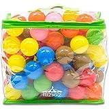 RiZKiZ カラーボール 7色 100個入り 直径5.5cm 【やわらかポリエチレン製】 (プール/ボールプール/ボールハウス用)