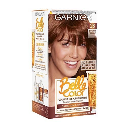 Garnier - Belle Color - Coloration permanente Châtain - 28 Châtain marron naturel