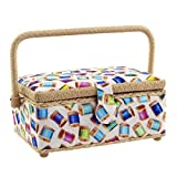 Dritz Sewing Basket, Colorful Spools