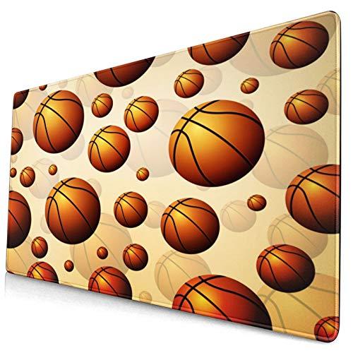 HUAYEXI Alfombrilla Gaming,Pelotas de Baloncesto,con Base de Goma Antideslizante,750×400×3mm