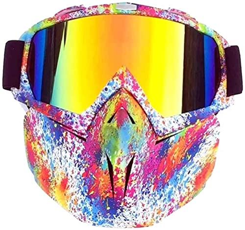 A prueba de viento a prueba de polvo deportes al aire libre, esquí de gafasskiing gafas de esquí a prueba de viento de invierno gafas de sol de motocross con máscara facial Ski Snowboard Snowmobile Ga