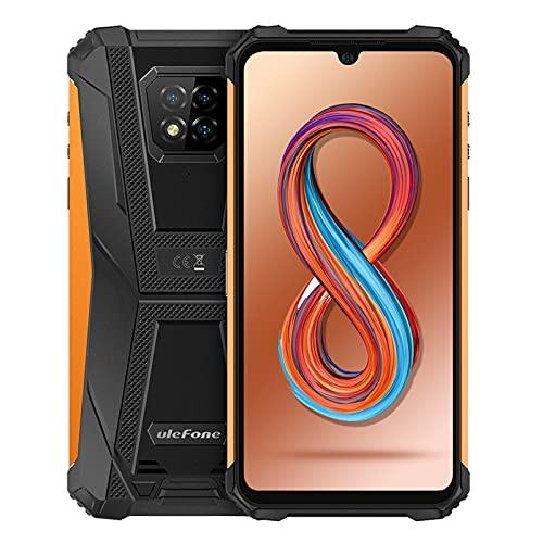Ulefone Armor 8 Pro Rugged Smartphone Android 11, 6GB + 128GB, Octa-core Cellulari Antiurto, 6,1 Pollici Telefoni Impermeabili, 5580mAh, Supporta MicroSD da 1 TB, Fotocamera 16MP+8MP+5MP+2MP(Arancio)