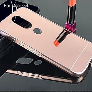 Capa Case Bumper Alumínio Espelhada Motorola Moto G4 / Moto G4 Plus Rosa