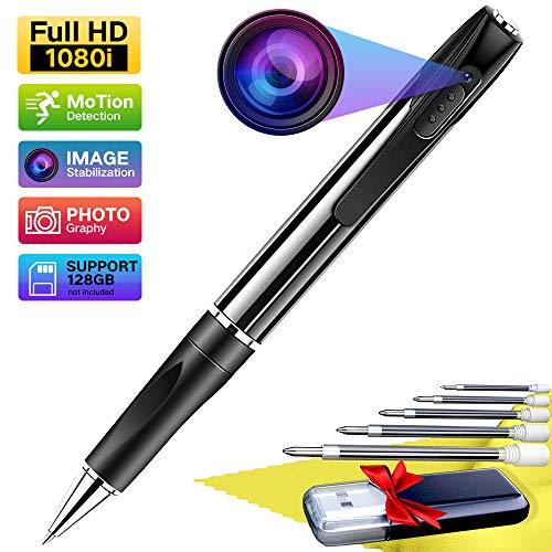 Mini Kamera Mini Stift Kamera- Spionage Kamera Stift -Überwachungskamera Verdeckte HD 1080P Kugelschreiber Kamera mit Loop Aufnahme Videorecorder 2.5 Stunden Videoaufnahme mit