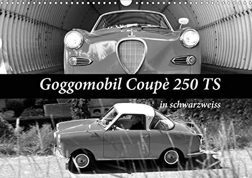Goggomobil Coupè 250 TS in schwarzweiss (Wandkalender 2021 DIN A3 quer)