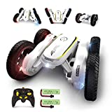 RC Stunt Cars,Remote Control Car for Kids,50 Mins Playing Time,4WD Double-Sided Racing Vehicles,Fancy