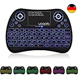 YAGALA Mini Tastatur Wireless mit Touchpad Mouse Combo,2.4GHz QWERTZ Deutsch Tastaturlayout, Smart TV Tastatur Fernbedienung für Android TV Box, HTPC, IPTV, XBOX360, PC, PAD