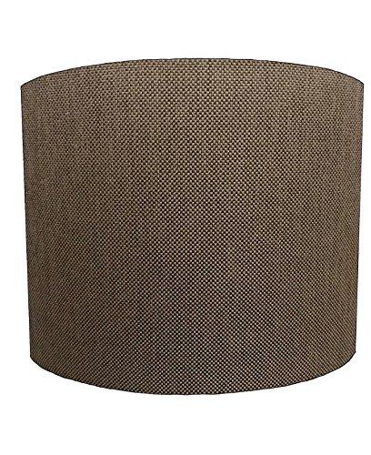 DELPH DESIGN LIGHTING LTD 25,4cm Table Brown Linen Material Lampshades