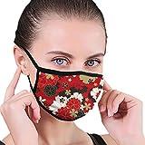 Maschera per il viso giapponese classico Sakura floreale nero Border maschere antipolvere passamontagna lavabile copertura della bocca per sport attività all'aperto