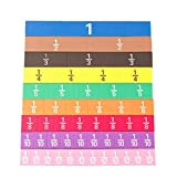 Sahgsa Cálculo Fraccional Magnético Educate 51Pcs Montessori Math Toys...