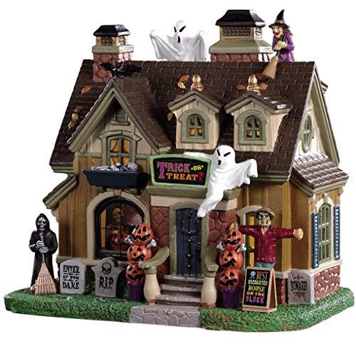 Lemax 95455 - Spooky Winner - Neu 2019 - Trick or Treat? - Spooky Town - Halloween Dekoration - Beleuchtetes Miniatur Porzellan Gruselhaus