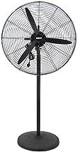 JPVGIA Pedestal Fans Black High Power Mechanical Floor Fan, Silent Moving Head Industrial Fan - Aluminum Leaf (Size : 55cm)