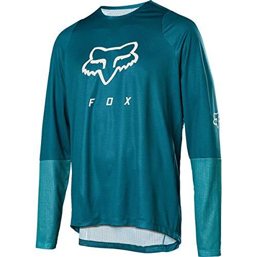 Fox Downhill-Jersey Langarm Defend Blau Gr. L