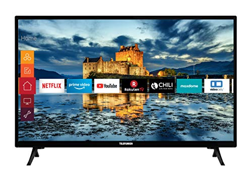 Telefunken XH32J511 32 Zoll Fernseher (Smart TV inkl. Prime Video / Netflix / YouTube, HD ready, Works with Alexa, Triple-Tuner) [Modelljahr 2021]