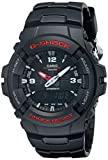 Casio G-Shock Quartz Watch with Resin Strap, Black (Model: G-100-1BVMCI)