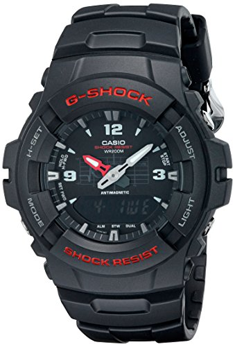 Casio G100-1BV G Shock-Ana Digi-200M Wr-Black (Model: G-100-1BVMCI) $19.92