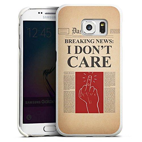 DeinDesign Samsung Galaxy S6 Edge Lederhülle Leder Case Leder Handyhülle News Saying Phrase