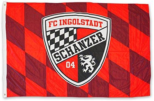 Flaggenfritze Hissflagge FC Ingolstadt 04-100 x 150 cm + gratis Aufkleber