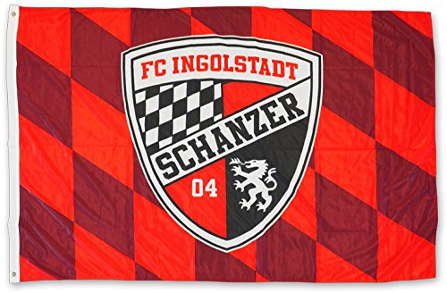 Hissflagge FC Ingolstadt 04 - 100 x 150 cm + gratis Aufkleber, Flaggenfritze®