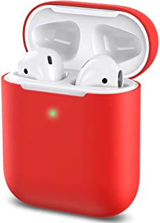 AirPods Case Protective Silicone Cover and Skin for Apple Airpods Charging Case (Red)