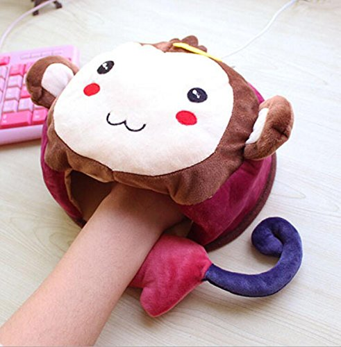Kelaina Cartoon USB riscaldata mouse pad scaldamani mouse pad con polso guardia, Colorful Monkey, 23*20.5cm