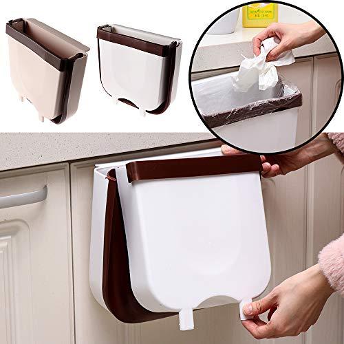 Msicoco opvouwbare badkamer benodigdheden auto kast deur opslag emmer opknoping prullenbak keuken & eten opvouwen afval Bin