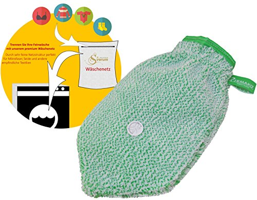 Jemako Reinigungshandschuh grün Plus feinmaschige Wäschenetz 40x50 cm