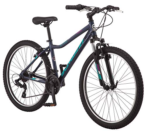 Schwinn High Timber AL Youth/Adult Mountain Bike, Aluminum Frame, 26-Inch Wheels, 21-Speed, Navy Blue