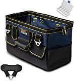 AIRAJ 18 in Waterproof Tool Bag with Handle & Shoulder Strap, Large Capacity Toolkits,Portable Multi-Functional Tool Organizer for Store Tools Gears Wide Mouth Tote Bags, Blue
