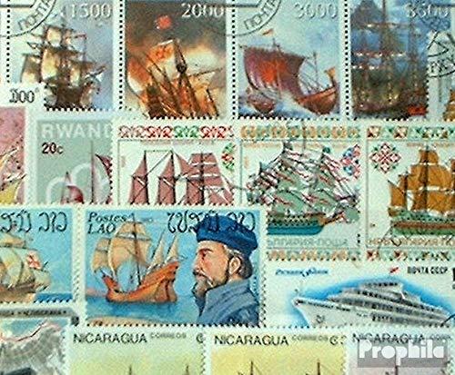 Prophila Collection Motivazioni 50 Diversi Navi e Barche Francobolli (Francobolli per i Collezionisti) Marinaro