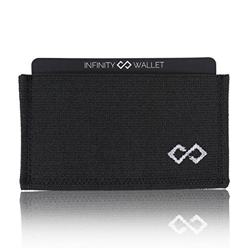 Infinity Wallet Men's Minimalist Wallet (Silver)