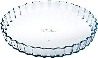 Ô cuisine 7541472 Moule à Tarte en Verre Borosilicate 27cm, Transparent, 28 cm