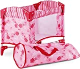 Götz 3402121 Baby-Doll Travel Cot Flowers Doll Accessorie - Suitable For All Baby Dolls and Standing...