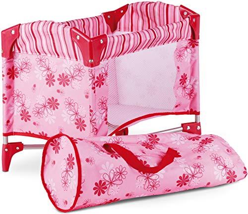 Götz 3402121 Puppen Reisebett on Tour - Puppenzubehör für alle Babypuppen und Stehpuppen bis 46 cm - inkl. Transporttasche