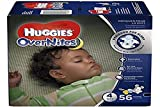 HUGGIES OverNites Diapers, Size 4 (22-37 lb), Overnight Diapers, 56 Count