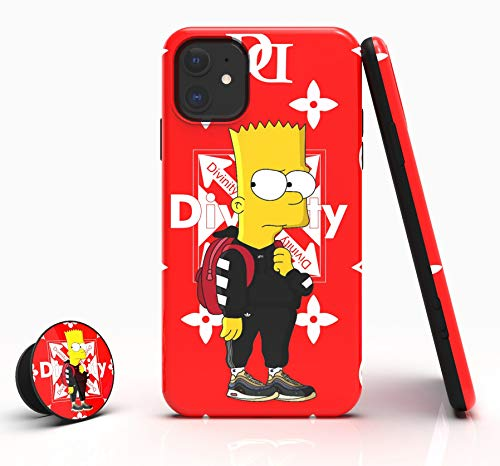 Divinity Hypebeast Blink Designer Case for iPhone 11 [Shock-Absorbing] [Scratch-Resistant] [Military Grade Protection] Hard PC + Flexible TPU Frame Cover for [ Apple iPhone 11 | 6.1 inches | 2019 ]
