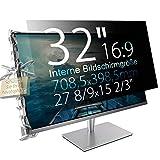 Xianan 32' (16:9) Blickschutzfilter für Breitbild Monitor - 27,89x15,69' / 708,5x398,5mm Sichtschutzfolie Privacy Filter Displayfilter PC Blickschutzfolie