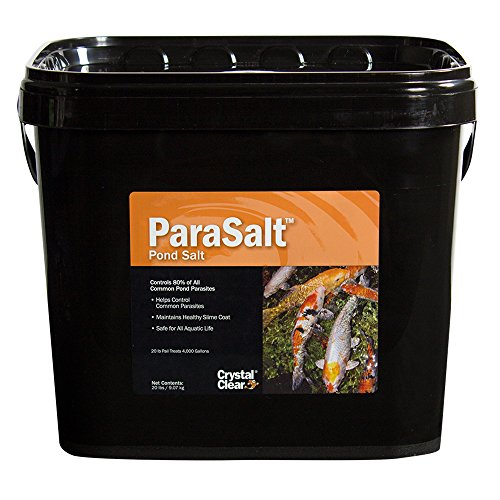 CrystalClear ParaSalt - Pond Salt for Koi & Goldfish - 20 Pounds Treats Up to 4,000 Gallons