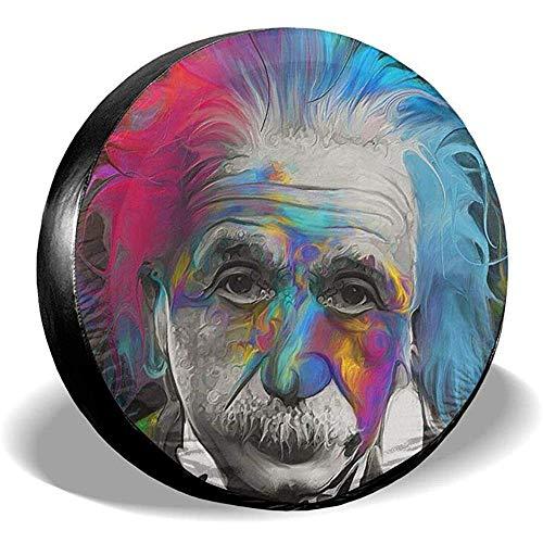 Dem Boswell Reserverad Reifen Abdeckung Albert Einstein Art Trinkwasser Polyester Universal Wasserdicht Staubdicht Sonnencreme Universal Fit